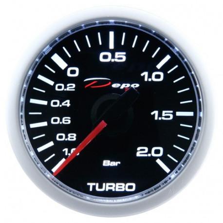 DEPO mérőórak- Night glow 52mm DEPO óra Turbonyomás elektromos - Night glow széria 2BAR | race-shop.hu