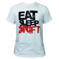Races rövid ujjú (T-Shirt) Eat Sleep Drift fehér
