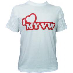 Races rövid ujjú (T-Shirt) I love my VW fehér