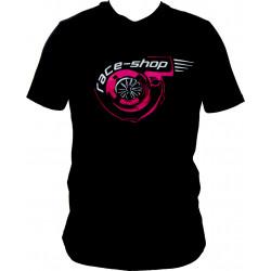 Races rövid ujjú (T-Shirt) Turbo fekete