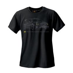 OMP rally rövid ujjú (T-Shirt) fekete