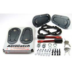 Aerodinamikus Motorháztető leszorítók Aerocatch - becsukhato, carbon look