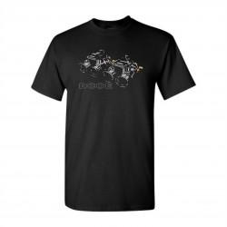 Races rövid ujjú (T-Shirt) Weber karburátor DCOE fekete
