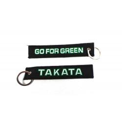 Kulcstartó Takata go for green fekete