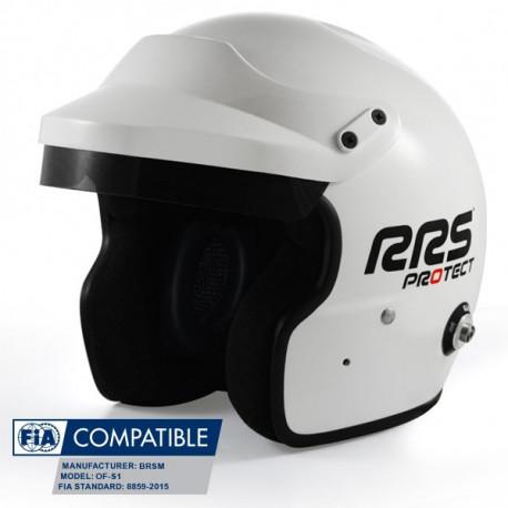 Nyitott sisakok Bukósisak RRS Protect JET FIA 8859-2015 HANS | race-shop.hu