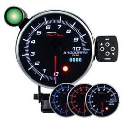 DEPO Programozható fordulatszámmérő óra dual view 115mm - benzines