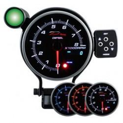 DEPO Programozható fordulatszámmérő óra dual view 95mm - dizeles