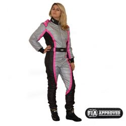 FIA Overál RRS EVO Victory Pink / Grey