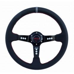 3 küllős műbőr kormány RACES Turismo, 350mm, 90mm melysséggel