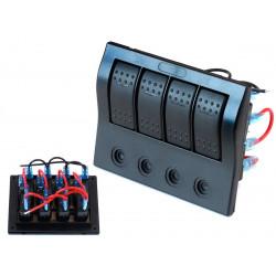 Vízálló 4x panel kapcsolók Carling Rocker (IP68)