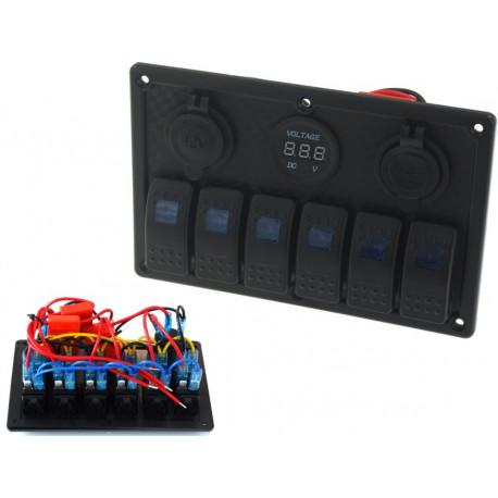 Indítás Panelek Vízálló 6x panel kapcsolók Carling Rocker (IP68) | race-shop.hu