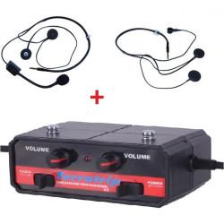 Interkom czentral szett Terratrip Professional + 2x headset