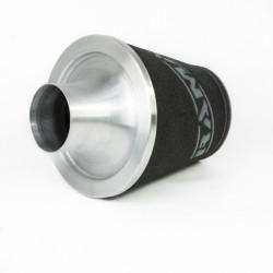 Univerzális sport légszűrő Ramair , ALU nyak, (fekete / ezüst)