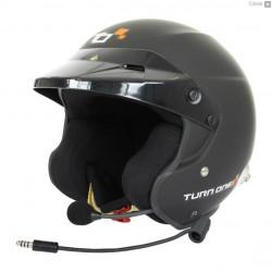 Bukósisak Turn One Jet_RS FIA 8859-2015 HANS, fekete