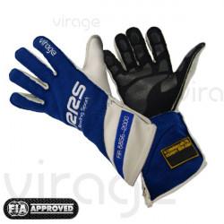 Kesztyű RRS Virage 2 FIA homologizációs (külső varrás) kék