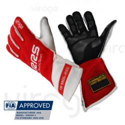 Kesztyű RRS Virage 2 FIA homologizációs (külső varrás) piros