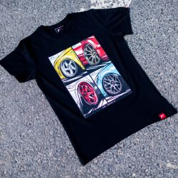 JR-Wheels MIX (T-Shirt) fekete