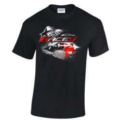 Races rövid ujjú (T-Shirt) Star fekete