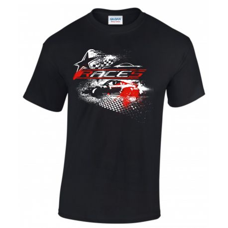 Pólók Races rövid ujjú (T-Shirt) Star fekete   race-shop.hu