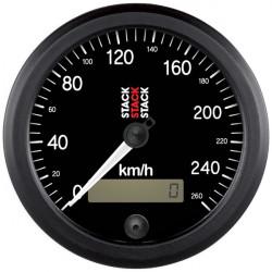 STACK Professional speedometer gauge 80mm - black