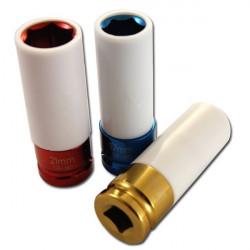 Socket set with teflon protection