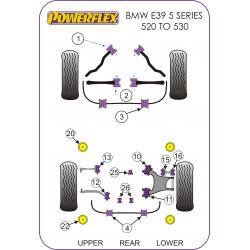 Powerflex Első stabilizátor szilent 23mm BMW E39 5 Series 520 to 530