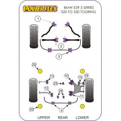 Powerflex Hátsó, bölcső szilent betét BMW E39 5 Series 520 to 530 Touring