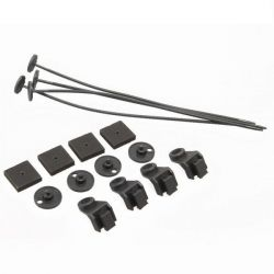 Radiator fan mounting kit with plastic holder