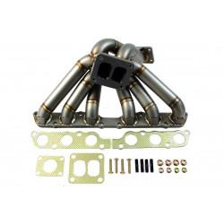 Rozsdamentes hangolt leömlő Toyota Supra 2JZ GE Turbo külső wastegate talp kialakítással