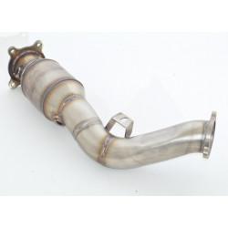 76mm Downpipe rozsdamentes acél sport katalizátorral (200 CPSI)