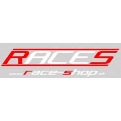 Matrica RACES www.race-shop.sk 11 x 47 cm - piros/fehér