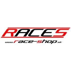 Matrica RACES www.race-shop.sk 11 x 47 cm - piros/fekete