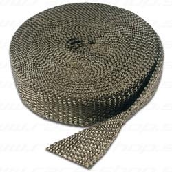 Thermotec kipufogó bandázs, leömlőkre és kipufogócsövekre,Carbon-Titánium,25mm x 15m