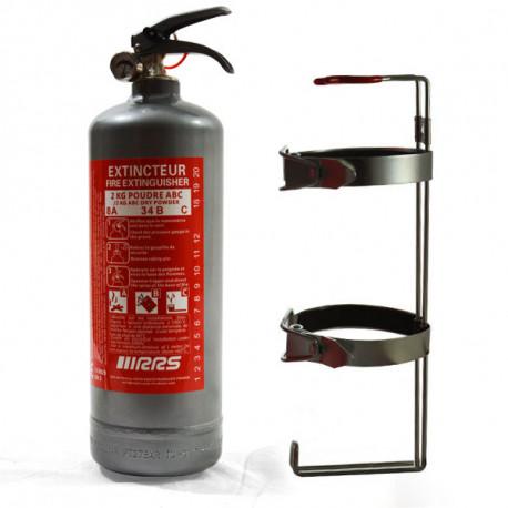 Tűzoltó készülékek Kézi poroltó készülék 2kg RRS FIA (szürke) | race-shop.hu