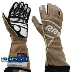 Race gloves RRS Virage FIA (outside stitching) brown
