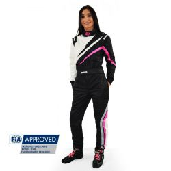 FIA Race Suit RRS EVO Dynamic Black/ Pink