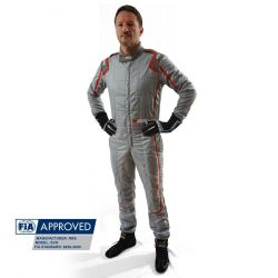 FIA Race Suit RRS EVO Monte Carlo Grey/ Red