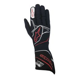 Race gloves Alpinestars Tech 1ZX with FIA (outside stitching) red/white