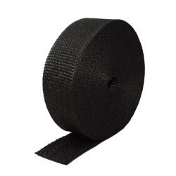 Kipufogó bandázs,fekete, leömlőkre és kipufogócsövekre 50mm x 15m x 1mm