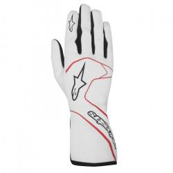 Alpinestars Tech-1 Race FIA homológ kesztyű - fehér/piros