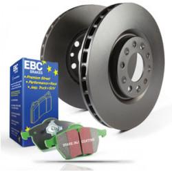 Еlső szett EBC PD01KF288 - Féktárcsák Premium OE + Fékbetétek Greenstuff