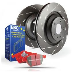 Еlső szett EBC PD07KF037 - Féktárcsák Ultimax Grooved + Fékbetétek Redstuff Ceramic