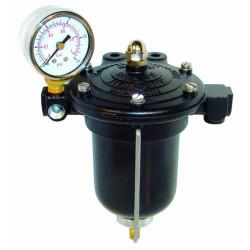 Üzemanyag nyomás szabályozó KING karburátor szűrő és mérőóraval