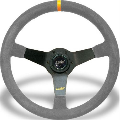 Kormányok Sportkormány Luisi Mirage Corsa,350mm,hasított bőr,75mm mélységgel | race-shop.hu