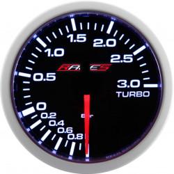 RACES Clubman mérőóra - Elektromos turbónyomás 3BAR