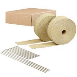 Hőszigetelő szalag csatornákhoz és kipufogóhoz DEI 2db. - 5 cm x 15 m Tan + kábelkötegelők
