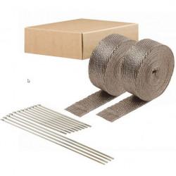 Hőszigetelő szalag csatornákhoz és kipufogóhoz DEI 2db. - 5 cm x 15 m Titanium + kábelkötegelők