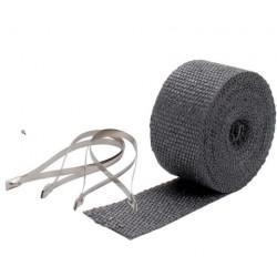 Hőszigetelő szalag csatornákhoz és kipufogóhoz DEI - 5 cm x 7,5 m Black + kábelkötegelők