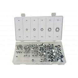 Set of lock nuts with nylon insert - 146pcs