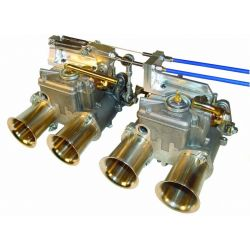 Sytec kompletná sada na ovládanie 2ks dvojitých karburátorov Weber